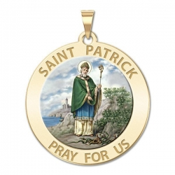 Saint Patrick Medal  Color EXCLUSIVE