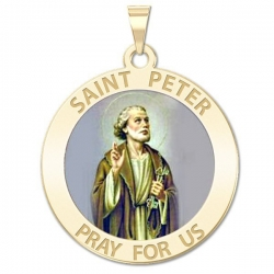 Saint Peter Medal  Color EXCLUSIVE
