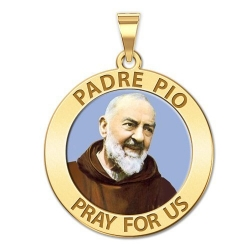 Padre Pio Medal  Color EXCLUSIVE