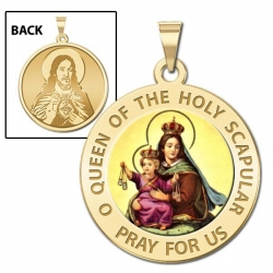 Scapular Medal  Color EXCLUSIVE