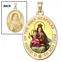 Scapular Medal  OVAL  EXCLUSIVE Color