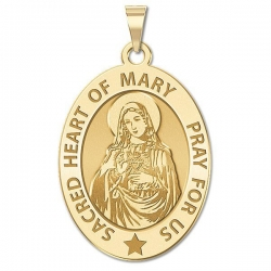 Sacred Heart Or Immaculate Heart of Mary Medal  EXCLUSIVE