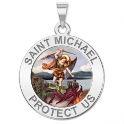 Saint Michael Medal   Color EXCLUSIVE