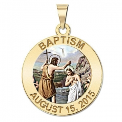 Personalized Baptism Medal  Color EXCLUSIVE