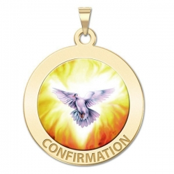 Confirmation Medal    Holy Spirit  Color EXCLUSIVE