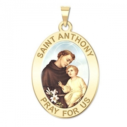 Saint Anthony Medal  Color EXCLUSIVE