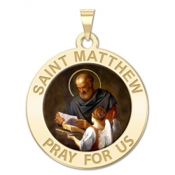 Saint Matthew Medal  Color EXCLUSIVE