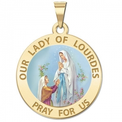 Our Lady of Lourdes Medal    Color EXCLUSIVE