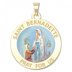 Saint Bernadette Medal   Color EXCLUSIVE