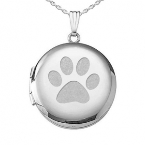 Dog's Paw Print Locket