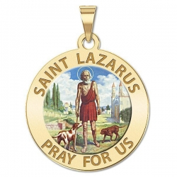 Saint Lazarus Medal  Color EXCLUSIVE