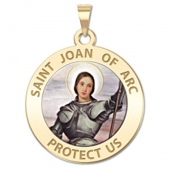 Saint Joan of Arc Medal   color EXCLUSIVE