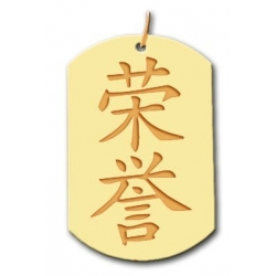 Honor  Chinese Symbol Dog Tag Pendant