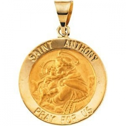 14K Gold Saint Anthony Medal  H