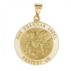14K Gold Our Guardian Angel  H