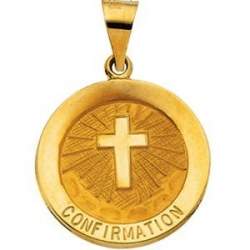 14K Gold Confirmation Medal  H