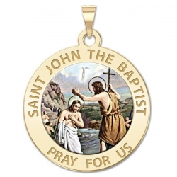 Saint John the Baptist Medal  Color EXCLUSIVE