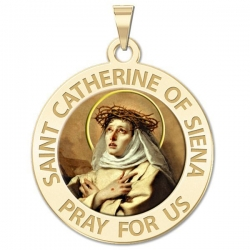 Saint Catherine of Siena Medal    Color EXCLUSIVE