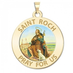 Saint Roch Medal  Color EXCLUSIVE