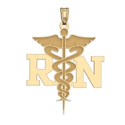 14K Gold  RN  Medical Pendant