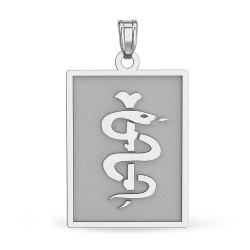 Sterling Silver Rectangle Medical Pendant