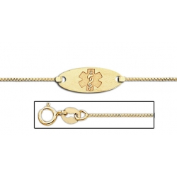 14K Gold Medical ID Anklet