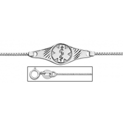 14K White Gold Medical ID Anklet