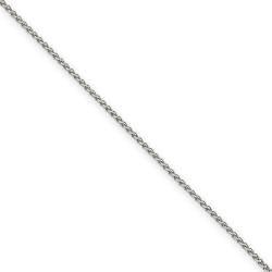14k 1 75mm Spiga Chain14k White Gold 1 65mm Solid Polished Spiga Chain