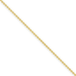 14k 2mm Solid Polished Cable Chain