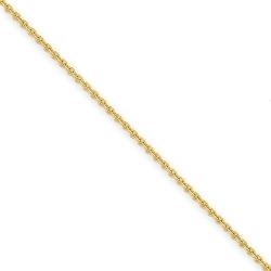 14k 2 2mm Solid Polished Cable Chain