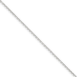 14k White Gold 1mm Spiga Chain