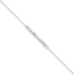 Sterling Silver Antiqued Love Rings Anklet