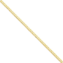 14k Polished Curb Link Anklet