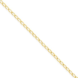14k Polished Fancy Link Anklet