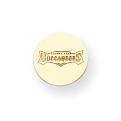 14K Tampa Bay Buccaneers Disc Buccaneers Post Earrings