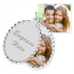 Sterling Silver Oval Swivel Photo Pendant