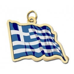 Greece Flag Charm