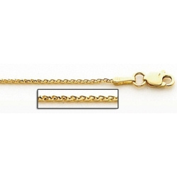 14K Yellow Gold 1 0mm Classic Wheat Chain