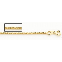 14K Yellow Gold 1 5mm Parrisan Wheat Chain