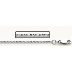 14K White Gold 1 5mm Parrisan Wheat Chain