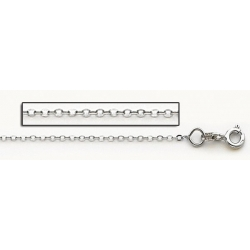 14K White Gold 0 8mm Cable Link Chain