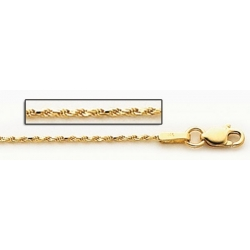 14K Yellow Gold 3 1mm Cable Link Chain