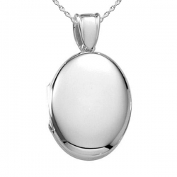 Sterling Silver Oval   Heavy Weight  Picture Locket