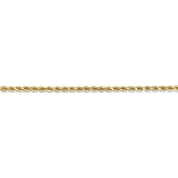 14K Yellow Gold 2 5mm Diamond Cut Flex Rope Chain