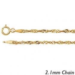 14K Yellow Gold 2 1mm Singapore Chain
