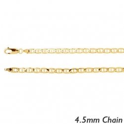 14K Yellow Gold 4 5mm  Anchor Chain