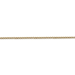 14K Yellow Gold 1 8mm Rolo Chain