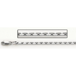 14K White Gold Coreanna Diamond Cut Chain