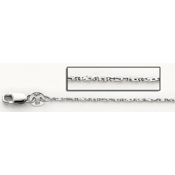 14K White Gold Raso Chain