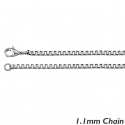 Sterling Silver 1 1mm Box Chain